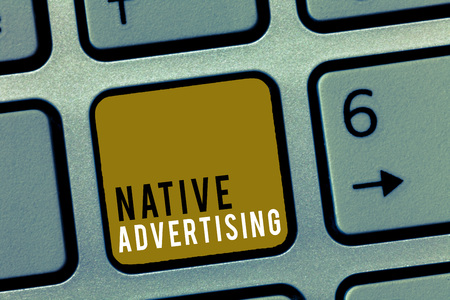 Word writing text Native Advertising. Business concept for Online Paid Ads Match the Form Function of Webpage.