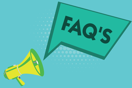Writing note showing Faq s is. Business photo showcasing list of questions and answers relating to a particular subject.