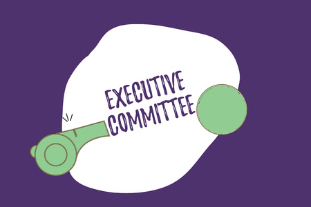 Writing note showing Executive Committee. Business photo showcasing Group of Directors appointed Has Authority in Decisions. 스톡 콘텐츠