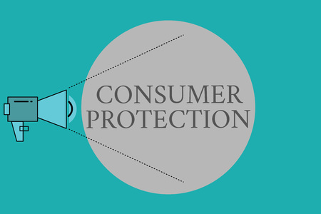 Conceptual hand writing showing Consumer Protection. Business photo text Fair Trade Laws to ensure Consumers Rights Protection.