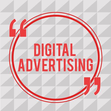 Writing note showing Digital Advertising. Business photo showcasing Online Marketing Deliver Promotional Messages Campaign.