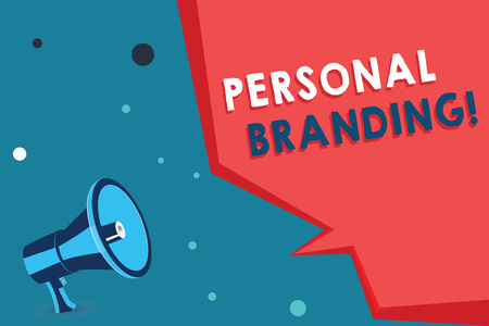 Word writing text Personal Branding. Business concept for Practice of People Marketing themselves Image as Brands.