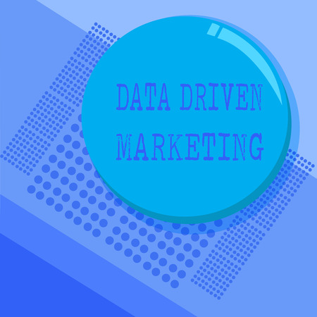 Conceptual hand writing showing Data Driven Marketing. Business photo text Strategy built on Insights Analysis from interactions. Stock Photo