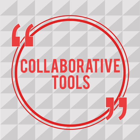 Writing note showing Collaborative Tools. Business photo showcasing Private Social Network to Connect thru Online Email.