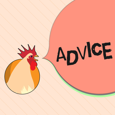 Word writing text Advice. Business concept for guidance or recommendations offered with regard prudent action.