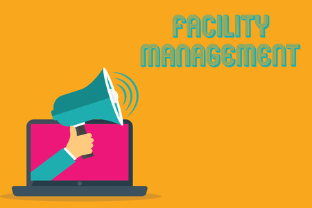 Conceptual hand writing showing Facility Management. Business photo text Multiple Function Discipline Environmental Maintenance.
