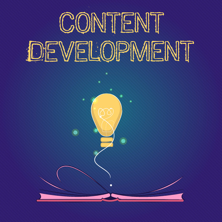 Handwriting text Content Development. Concept meaning Specialized in Graphic Design Multimedia Documentation.