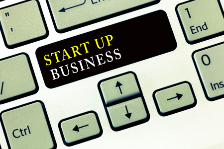 Writing note showing Start Up Business. Business photo showcasing Engaging to a New Venture Fresh Trading and Selling. Stock Photo