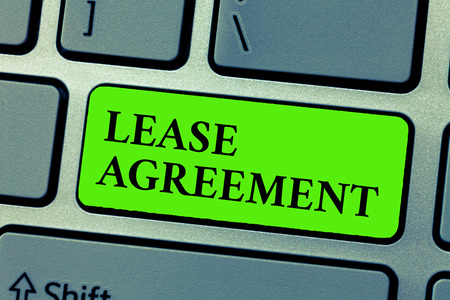Conceptual hand writing showing Lease Agreement. Business photo text Contract on the terms to one party agrees rent property.