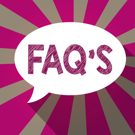 Handwriting text Faq s is. Concept meaning list of questions and answers relating to a particular subject.