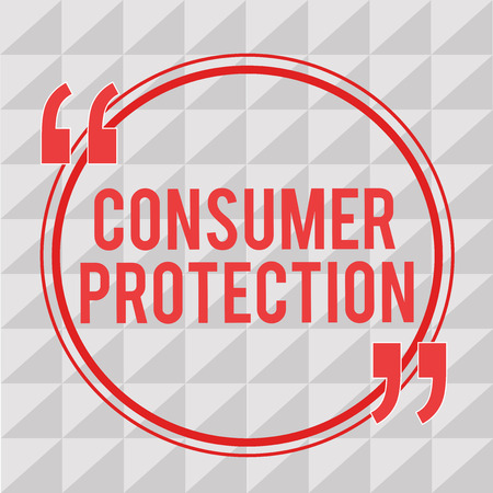 Writing note showing Consumer Protection. Business photo showcasing Fair Trade Laws to ensure Consumers Rights Protection.