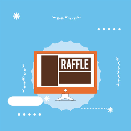 Handwriting text writing Raffle. Concept meaning means of raising money by selling numbered tickets offer as prize. Foto de archivo - 108738199