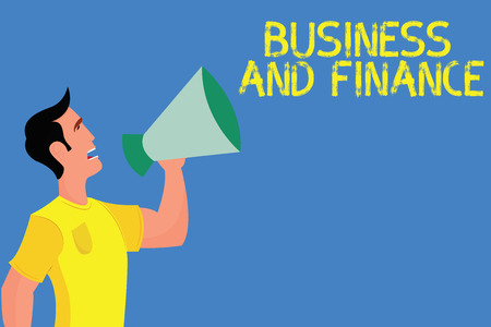 Word writing text Business And Finance. Business concept for Management of Asset Money and Fund of a company.