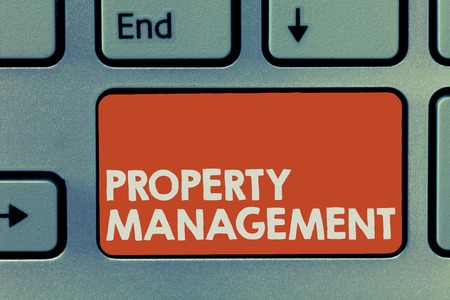 Property Management. Conceptual photo Overseeing of Real Estate Preserved value of Facility.