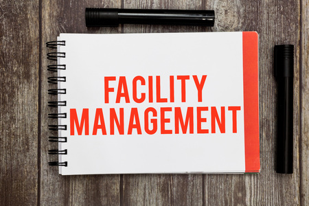 Facility Management. Business concept for Multiple Function Discipline Environmental Maintenance.