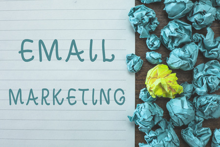 Conceptual hand writing showing Email Marketing. Business photo text Sending a commercial message to a group of people using mail.