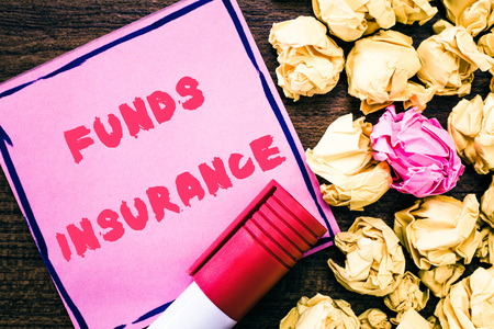Handwriting text Funds Insurance.