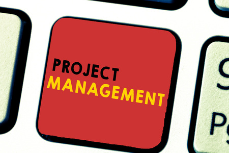 Word writing text Project Management. Business concept for Application Process Skills to Achieve Objectives and Goal.