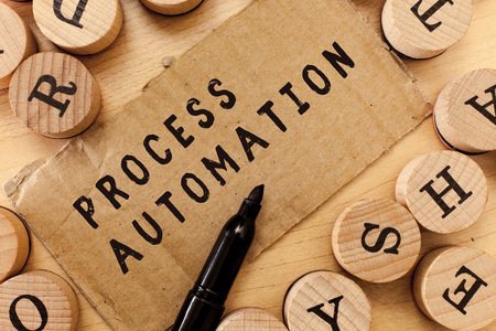 Handwriting text writing Process Automation. Concept meaning Transformation Streamlined Robotic To avoid Redundancy.