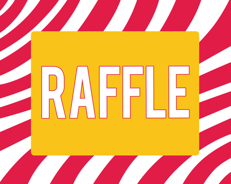 Conceptual hand writing showing Raffle. Business photo showcasing means of raising money by selling numbered tickets offer as prize.
