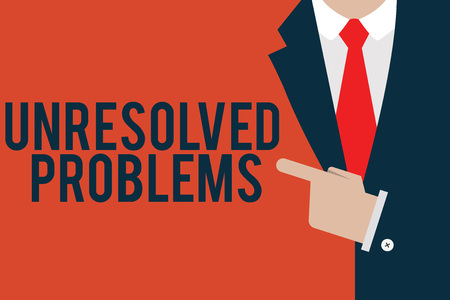 Word writing text Unresolved Problems. Business concept for those Queries no one can answer Unanswerable Questions.