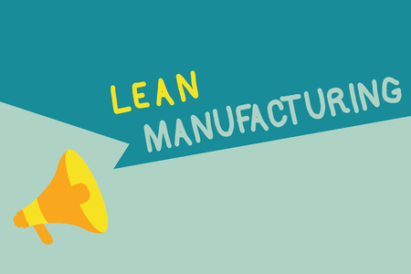 Handwriting text writing Lean Manufacturing. Concept meaning Waste Minimization without sacrificing productivity.