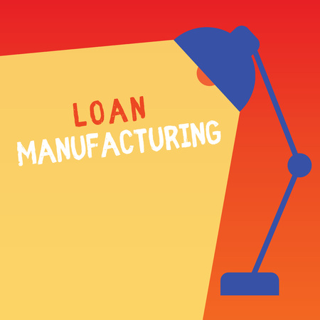 Word writing text Loan Manufacturing. Business concept for Bank Process to check Eligibility of the Borrower.