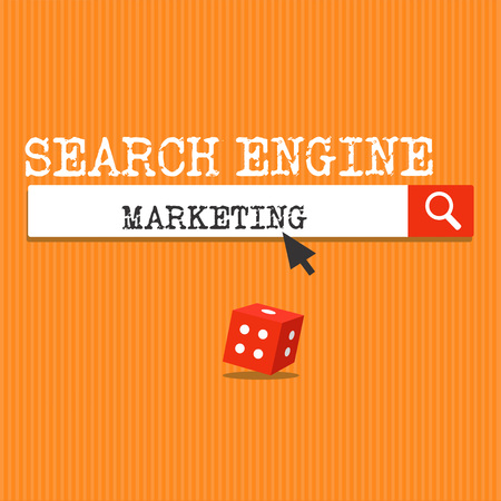 Handwriting text writing Search Engine Marketing. Concept meaning promote Website visibility on searched result pages.
