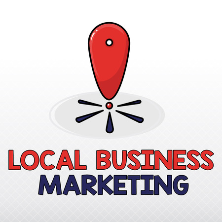 Word writing text Local Business Marketing. Business concept for Localized specification on Store characteristic . Stock Photo