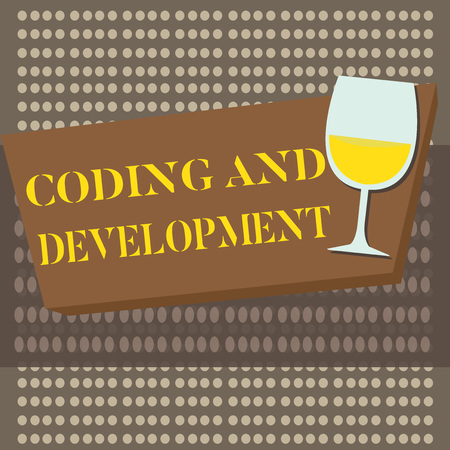 Conceptual hand writing showing Coding And Development. Business photo text Programming Building simple assembly Programs.