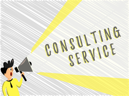 Word writing text Consulting Service. Business concept for Experts that offers knowledge to a third party for a fee.