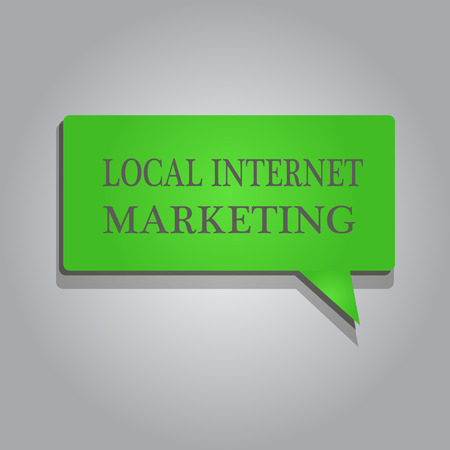 Writing note showing Local Internet Marketing. Business photo showcasing use Search Engines for Reviews and Business List.