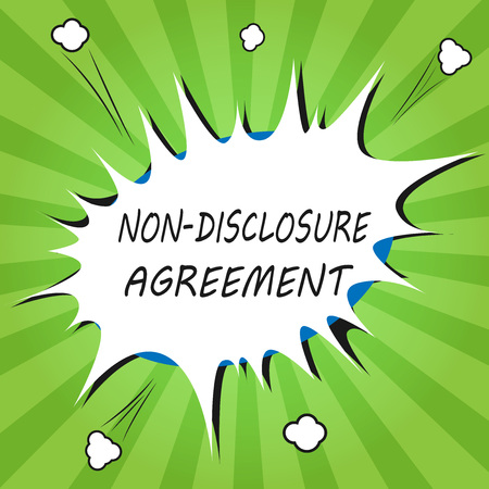 Handwriting text writing Non Disclosure Agreement. Concept meaning Legal Contract Confidential Material or Information.