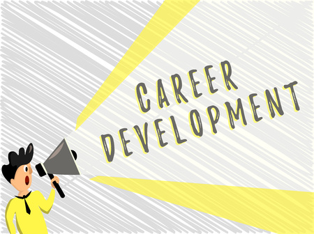 Word writing text Career Development. Business concept for Lifelong learning Improving skills to get a better job.
