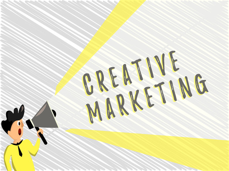 Word writing text Creative Marketing. Business concept for Campaigning to meet the advertising requirements.