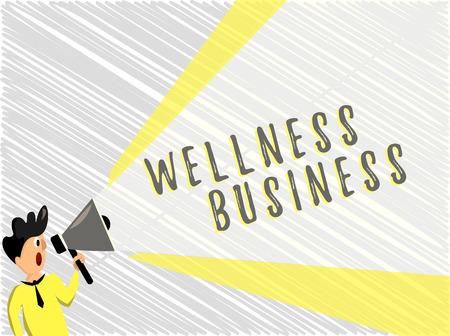Word writing text Wellness Business. Business concept for Professional venture focusing the health of mind and body.