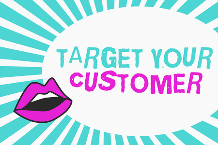 Writing note showing Target Your Customer. Business photo showcasing Tailor Marketing Pitch Defining Potential Consumers. Stock Photo