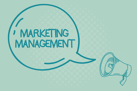 Text sign showing Marketing Management. Conceptual photo Develop Advertise Promote a new Product or Service. Stok Fotoğraf