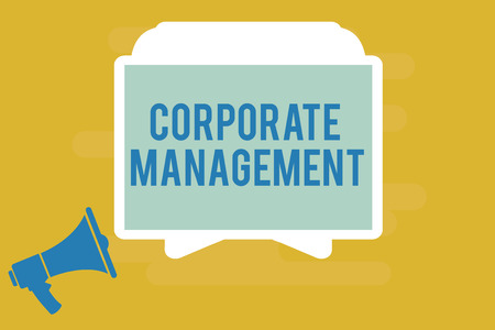 Writing note showing Corporate Management. Business photo showcasing all Levels of Managerial Personnel and Excutives.