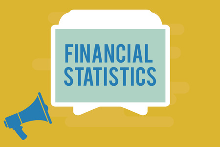 Writing note showing Financial Statistics. Business photo showcasing Comprehensive Set of Stock and Flow Data of a company.