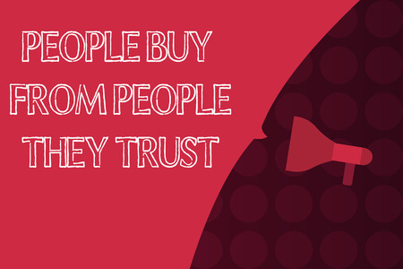 Word writing text showing Buy From showing They Trust. Business concept for Building trust and customer satisfaction.