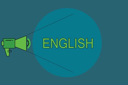 Word writing text English. Business concept for Related to England showing language culture British Literature class.