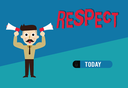 Word writing text Respect. Business concept for Feeling of deep admiration for someone or something Appreciation.