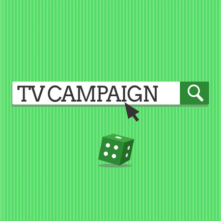 Conceptual hand writing showing Tv Campaign. Business photo text Television programming produced and paid for by an organization.