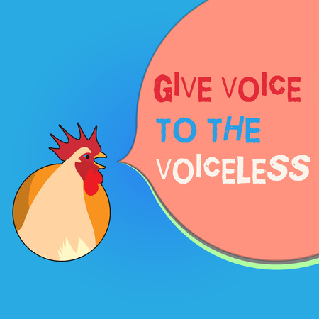 Writing note showing Give Voice To The Voiceless. Business photo showcasing Speak out on Behalf Defend the Vulnerable. 版權商用圖片