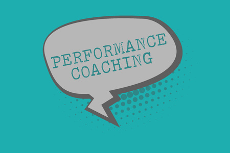 Conceptual hand writing showing Performance Coaching. Business photo text Facilitate the Development Point out the Good and Bad.