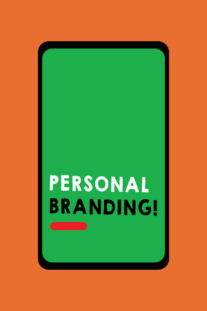 Text sign showing Personal Branding. Conceptual photo Practice of People Marketing themselves Image as Brands. Foto de archivo