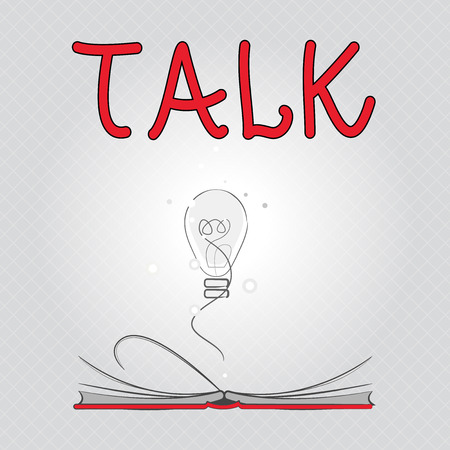 Writing note showing Talk. Business photo showcasing Voice out Express ideas and feelings Communicate by spoken words Speak.