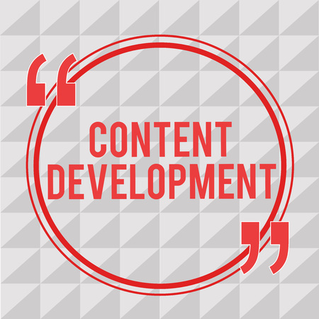 Writing note showing Content Development. Business photo showcasing Specialized in Graphic Design Multimedia Documentation.
