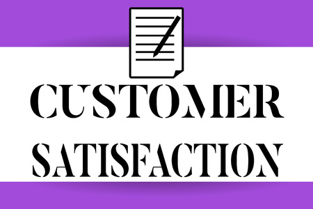 Handwriting text writing Customer Satisfaction. Concept meaning Exceed Consumer Expectation Satisfied over services. Stok Fotoğraf